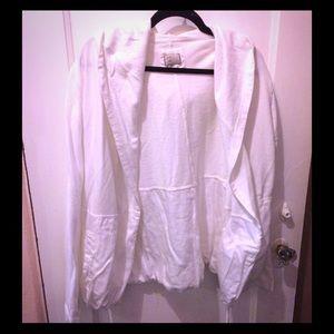 Anthropologie White Cardigan - Sz XL